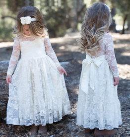 Meisjeskleding Feestjurk Noor - gebroken wit