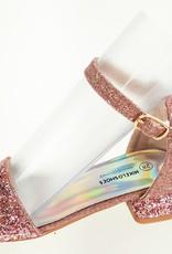 Meisjesschoenen Meisjesschoen - Spaanse schoentjes open - glitters - hart - roze