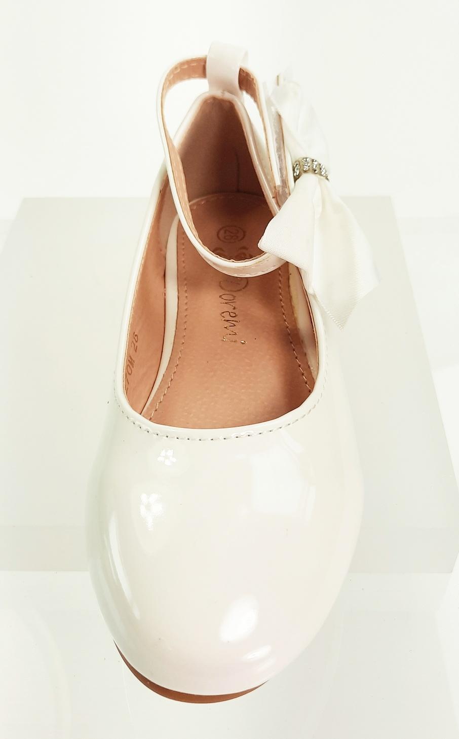 Meisjesschoenen Meisjesschoen - Ballerina's - lak - strik - wit