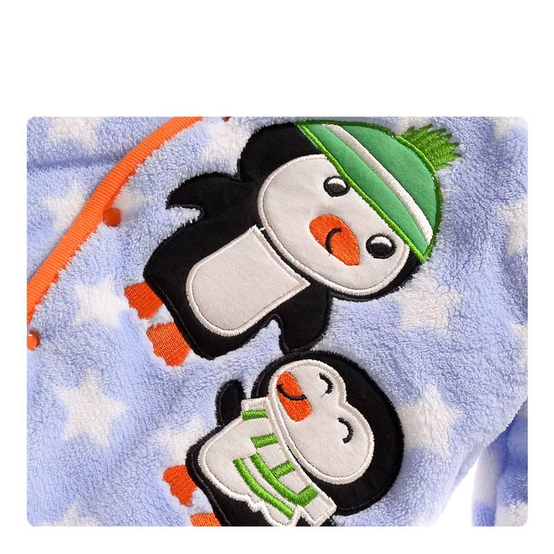 Babykleding Pinguin Jongens Boxpakje met capuchon - blauw