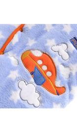 Babykleding Vliegtuig Jongens Boxpakje met capuchon - blauw