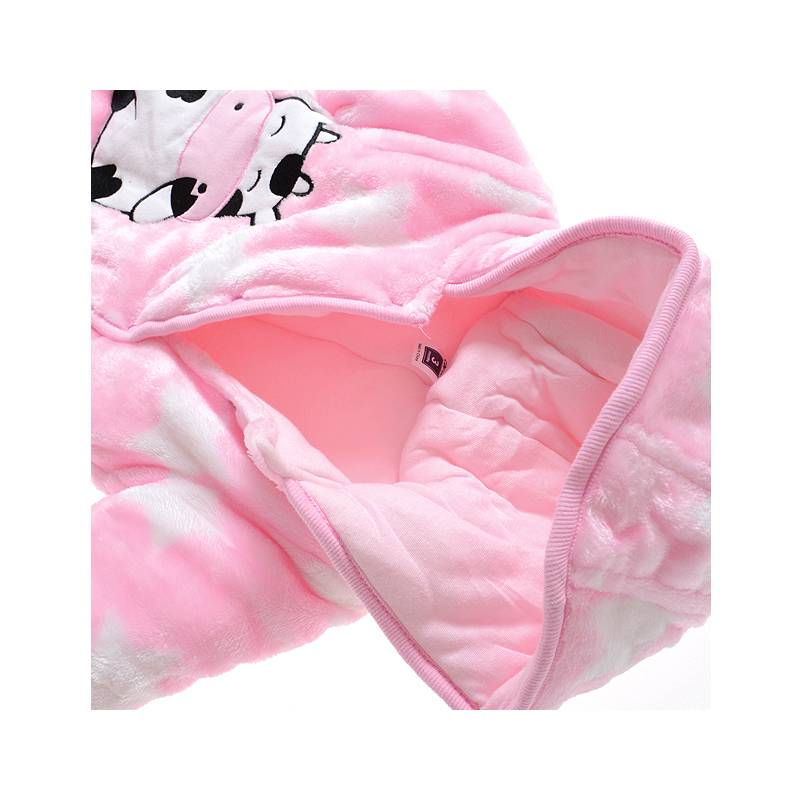 Babykleding Koe en Sterren Meisjes Boxpakje met capuchon - roze