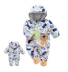 Babykleding Beertjes met Ballon Boxpakje met capuchon - blauw