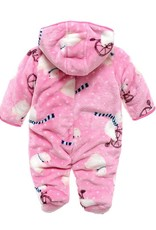 Babykleding IJsbeer Meisjes Boxpakje met capuchon - roze