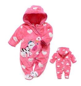 Babykleding Zebra Boxpakje met capuchon - roze