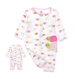 Babykleding Schildpadjes Boxpakje - wit / roze