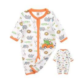 Babykleding Safari Dieren Boxpakje 2 - wit / oranje