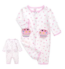 Babykleding Cupcake Boxpakje - wit / roze
