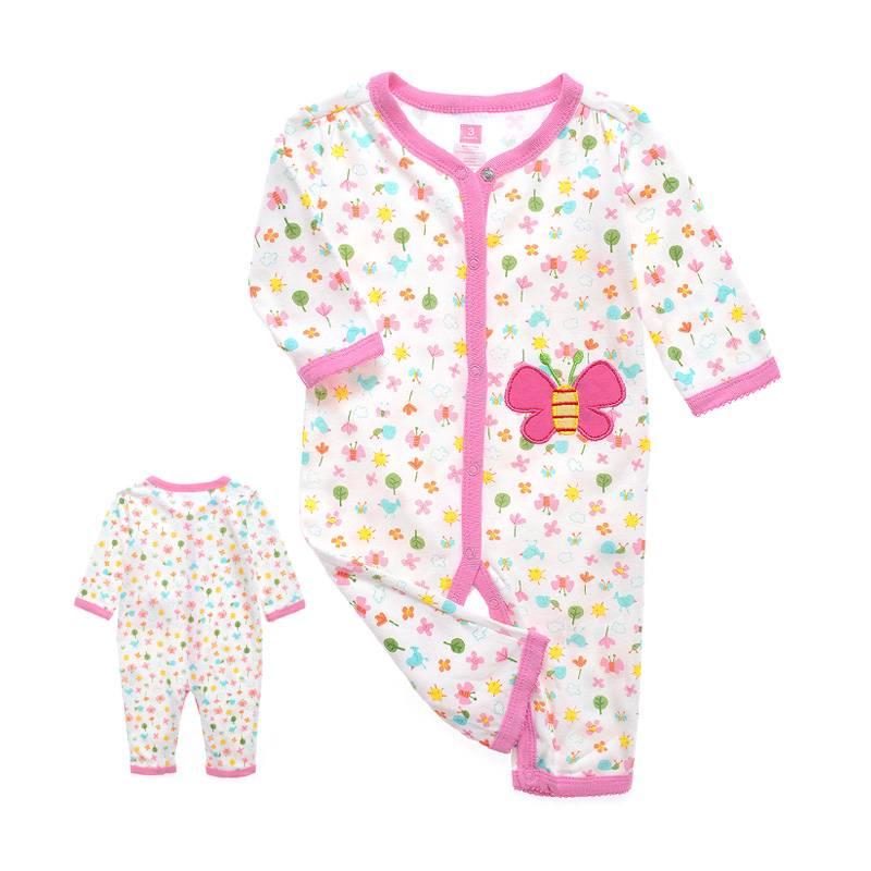 Babykleding Vlinder Meisjes Boxpakje - wit / roze