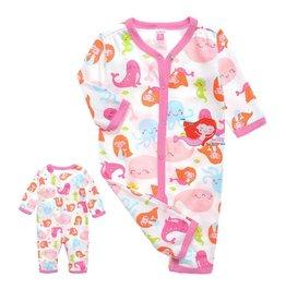 Babykleding Zeemeermin Boxpakje - wit / roze