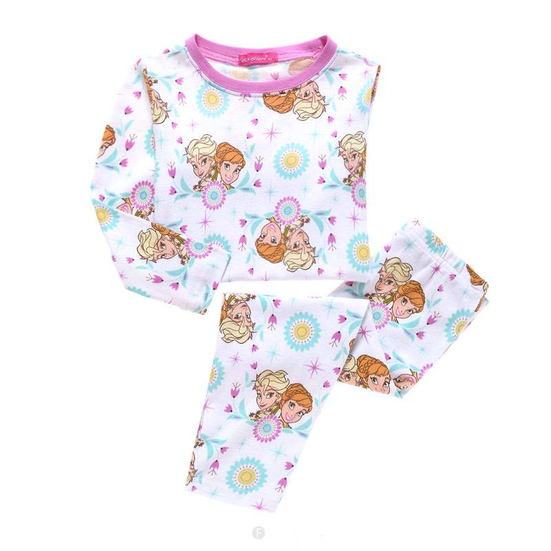 baf7fe12813 Kinderpyjama's - Frozen Meisjes Pyjama - wit / roze - LaraModa.nl