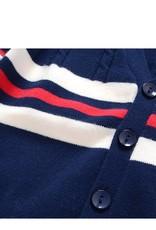 Jongenskleding Wollen Jongens Vest Gestreept - blauw