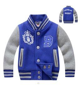Jongenskleding Baseball Jack - blauw / grijs
