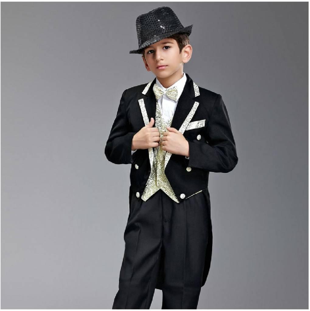 Jongenskleding Jongenskostuum - rokkostuum Harry - zwart / goud