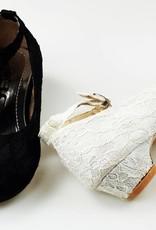 Meisjesschoenen Meisjesschoen - Spaanse schoentjes met hakje - kant - zwart