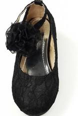 Meisjesschoenen Meisjesschoen - Pumps met hakje - kant - zwart