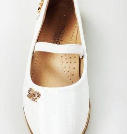 Meisjesschoenen Ballerina's - lak - wit