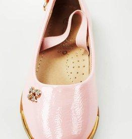 Meisjesschoenen Ballerina's - lak - roze