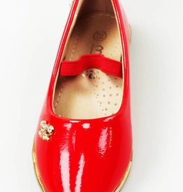 Meisjesschoenen Ballerina's - lak - rood