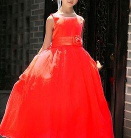 Meisjeskleding Feestjurk Sasha - rood