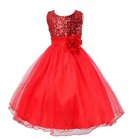Meisjeskleding Feestjurk Charlotte - rood