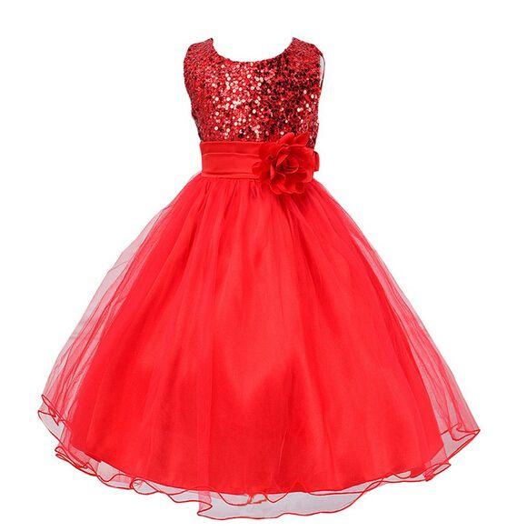 Meisjeskleding Meisjes Feestjurk Charlotte - rood