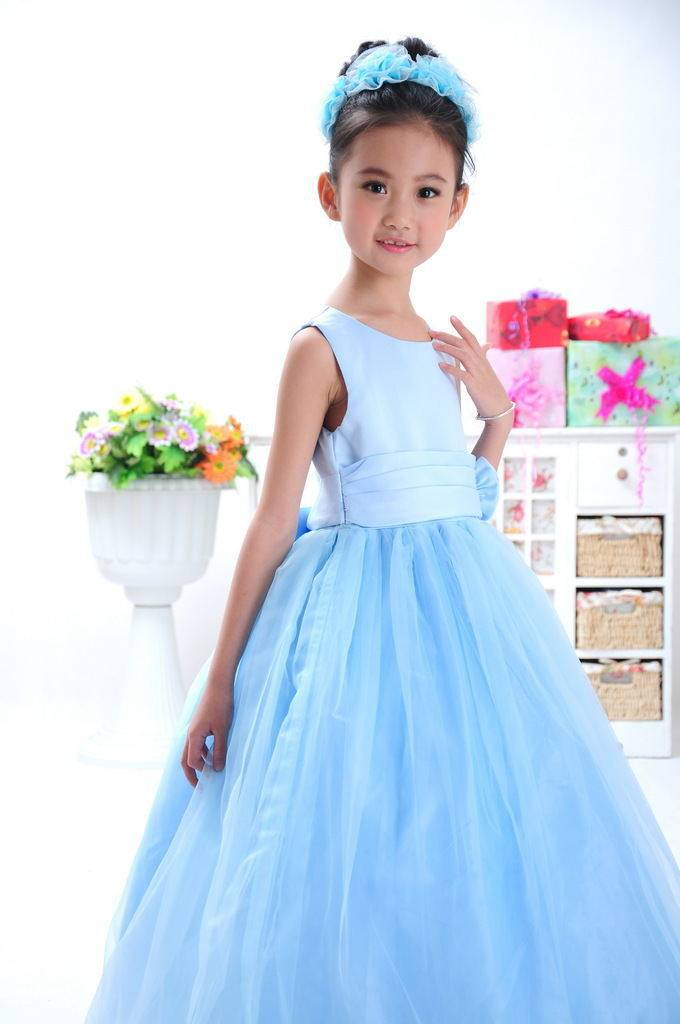 Meisjeskleding Meisjes Feestjurk Sasha - blauw