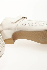 Meisjesschoenen Meisjesschoen - Spaanse schoentjes met hakje en strass steentjes - wit