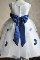Meisjeskleding Meisjes Feestjurk Gabriëlla - wit / blauw