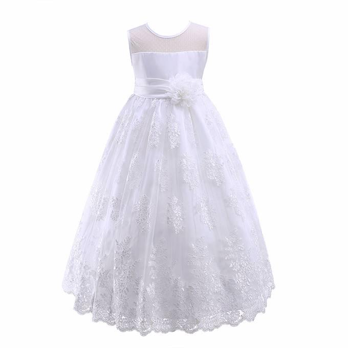 Meisjeskleding Meisjes Feestjurk Stacey - wit