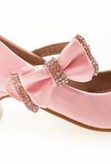 Meisjesschoenen Meisjesschoen - Spaanse schoentjes met hakje en strass steentjes - lak - roze