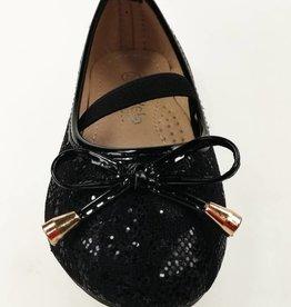 Meisjesschoenen Ballerina's - kant - zwart