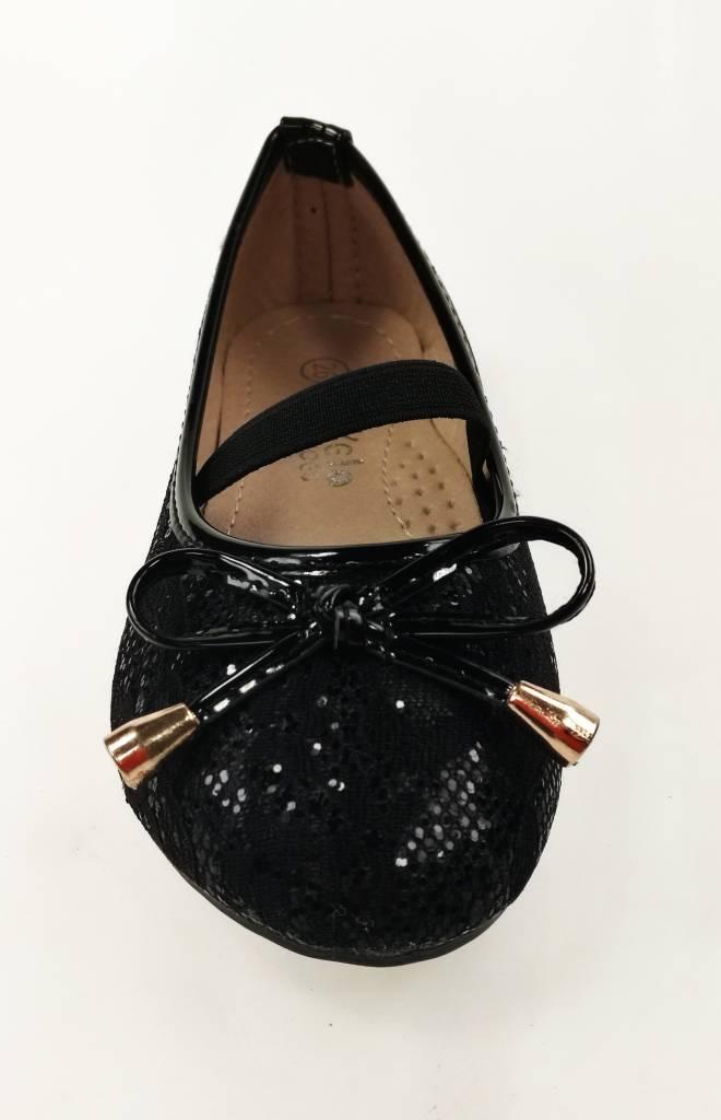 Meisjesschoenen Meisjesschoen - Ballerina's - kant - zwart