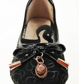 Meisjesschoenen Ballerina's - doorzichtig - zwart