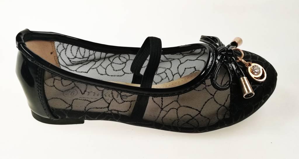 Meisjesschoenen Meisjesschoen - Ballerina's - doorzichtig - zwart