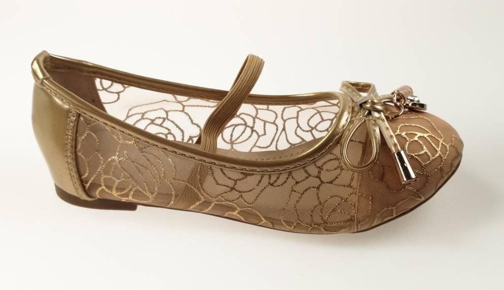 Meisjesschoenen Meisjesschoen - Ballerina's - doorzichtig - goud