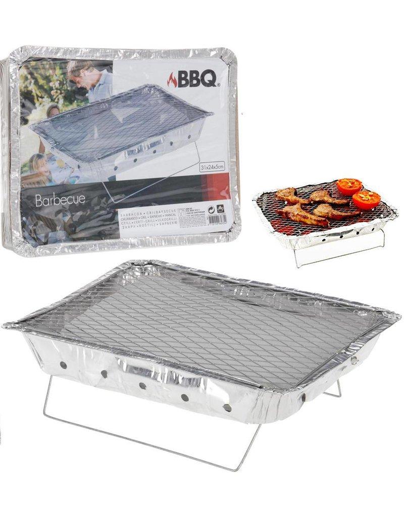 Barbecue 31x24x5cm kant & klaar met kolen 650gr