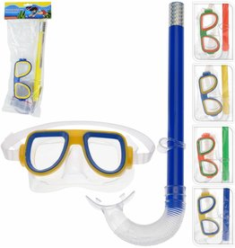 Duikbrilset voor kinderen 4 assorti kleur