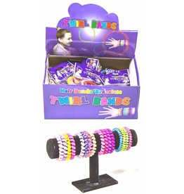 Twirl Bands arm/haar bandjes set à 4 stuks per 36 in display