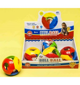 Baby bal rammelaar in net per 6 in display +6maanden