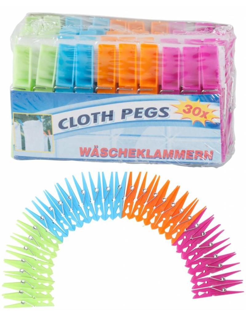 Wasknijpers Plastic 36st. 4 kleuren