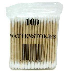 Wattenstaafjes hout 100 stuks