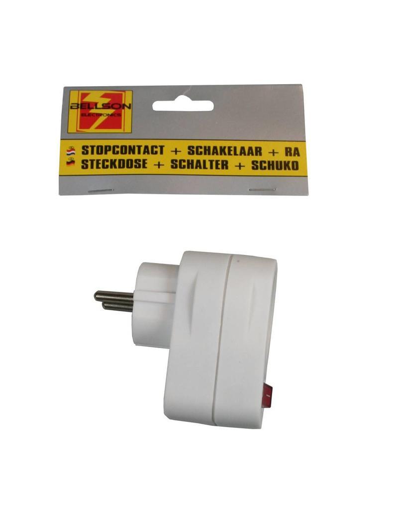 Stopcontact + Schakelaar voorzien van randaarde