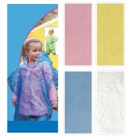 Poncho voor Kinderen 70x63cm. 4 assortie kleur