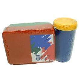 Lunchbox 21x13x7 + Drinkfles Assorti Kleur