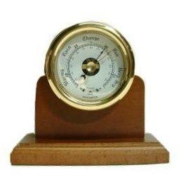 Barometer rond 9cm Houten voet