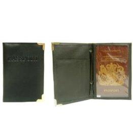 Paspoort Etui zwart   10x14.5cm