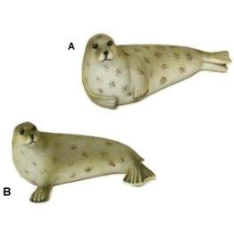 Zeehond liggend 21cm. 2 Assorti