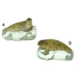 Zeehond op IJsschot 9.5cm. 2 Assorti