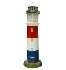 Vuurtoren rood/wit/blauw 25cm